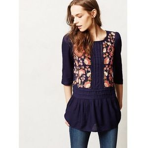 Anthropologie Floreat Luana Embroidered Blouse 6